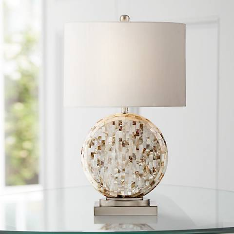 Tracey Round Mother of Pearl Table Lamp
