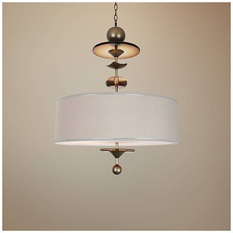 "Van Teal Walk To Me 24"" Wide Dark Argenta Pendant Light"
