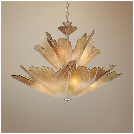 "Van Teal Always 30"" Wide Autumn Wood Silver Chandelier"