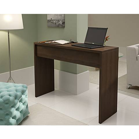 Lazio Classic Tobacco Wood Secretary Desk