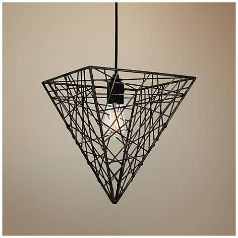 "Van Teal District 12"" Wide Bronze 1-Light Mini Pendant"