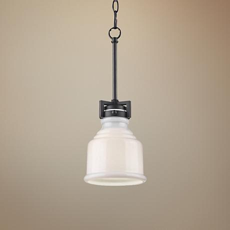 "Artcraft Franklin 6"" Wide Deep Black Colonial Mini Pendant"