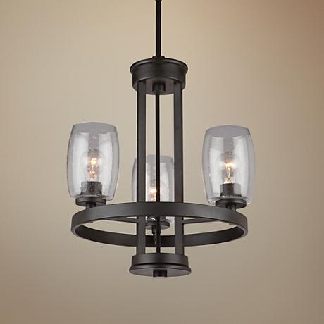 "Artcraft San Antonio 19""W Java Brown 3-Light Chandelier"