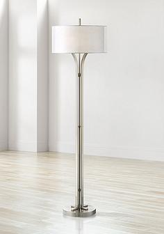 Floor Lamps - Traditional to Contemporary Lamps | Lamps Plus:Tristan Modern Brushed Nickel Floor Lamp,Lighting