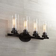 Bathroom Vanity Lights In Bronze bronze bathroom lighting fixtures | lamps plus