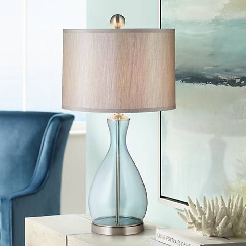 Uttermost Reena Blue Glass Table Lamp