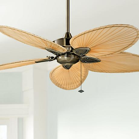 "52"" Fanimation Windpointe Antique Brass 5-Blade Ceiling Fan"