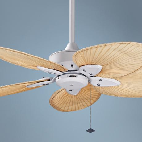 "44"" Windpointe Matte White Blade Ceiling Fan"