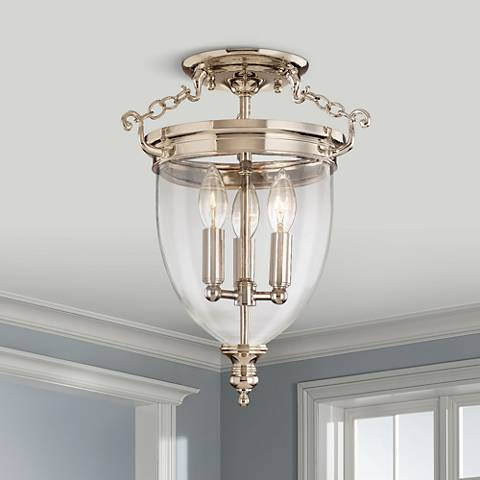 Hudson Valley Hanover Polished Nickel Ceiling Light