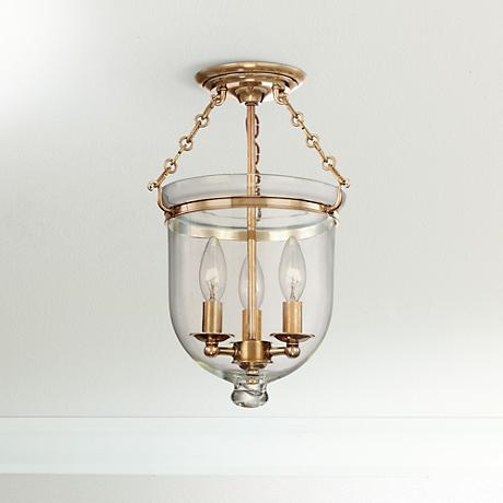 Hudson Valley Hampton Aged Brass Ceiling Fixture