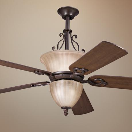 "52"" Cottage Grove Carre Bronze Ceiling Fan"