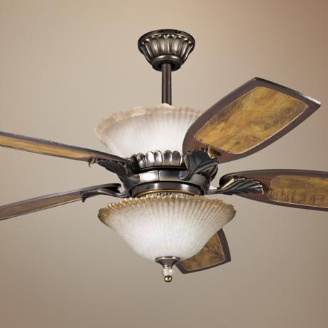 "52"" Golden Iridescence Bronze with Light Kit Ceiling Fan"