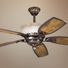 "52"" Golden Iridescence Oiled Bronze Ceiling Fan"