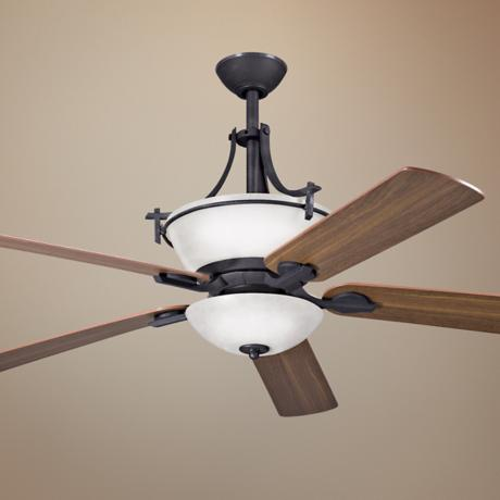 "60"" Olympia Distressed Black Ceiling Fan"