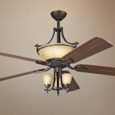 "60"" Olympia Olde Bronze Pendalettes Light Kit Ceiling Fan"
