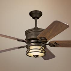 "52"" Chicago Aged Bronze Ceiling Fan"