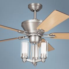 "52"" Kichler Circolo Brushed Nickel Ceiling Fan"