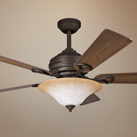 "54"" Kichler Meredith Distressed Black Ceiling Fan"
