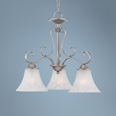 "Duchess Antique Nickel Finish 23"" Wide Chandelier"