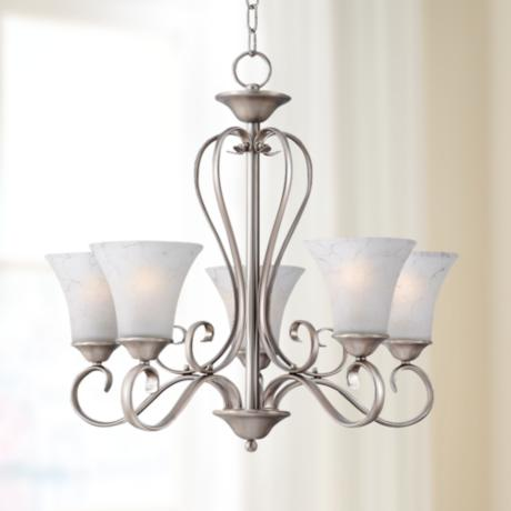"Duchess Antique Nickel Finish 24 1/2"" Wide Chandelier"