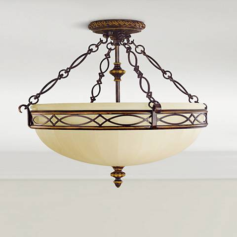 "Feiss Edwardian Collection 23"" Wide Ceiling Light Fixture"