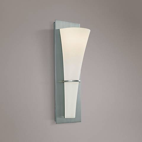 "Feiss Barrington 15 1/4"" High Brushed Steel Wall Sconce"