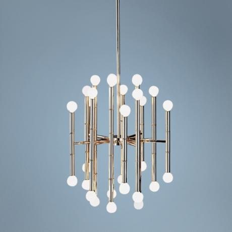 Jonathan Adler Meurice Collection 30-Light Nickel Chandelier