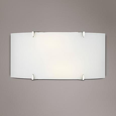 Philips Edge Bow Etched White Glass Wall Sconce