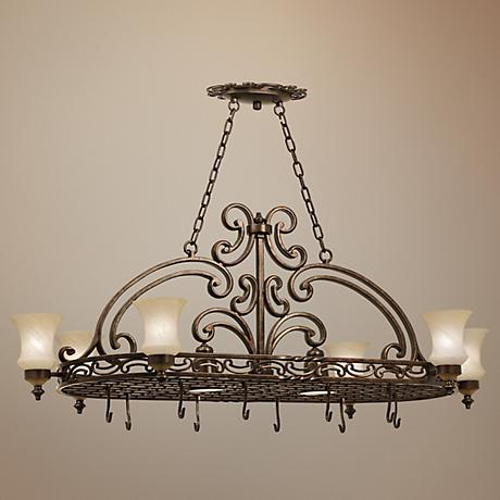 Hamilton Six Light Pot Rack Chandelier