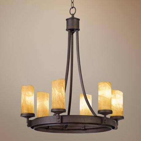 Espille Bronze Six Light Chandelier