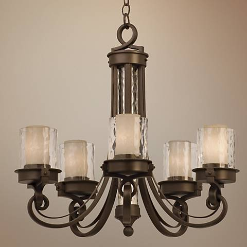 Newport Collection Satin Bronze Chandelier