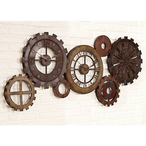 Wall Clocks At Lamps Plus : Uttermost Spare Parts 54