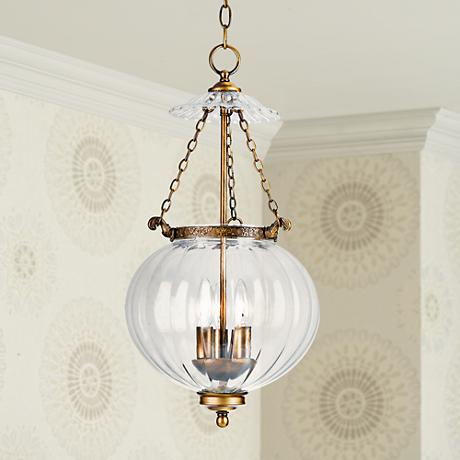 Camden Collection Brass Finish Pendant Chandelier