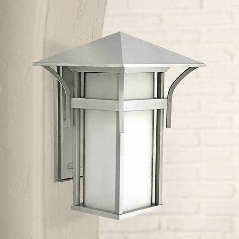 "Harbor Collection Titanium 16 1/4"" High Outdoor Wall Light"