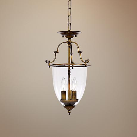 "Camden Collection 18 1/4"" High Bell Jar Lantern Chandelier"