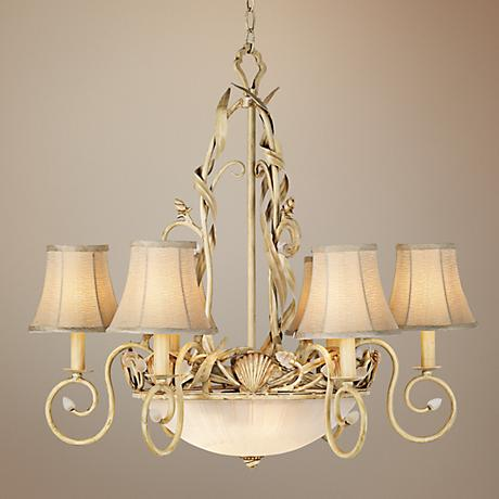 Kathy Ireland Sandy Beach 9-Light Pendant Chandelier