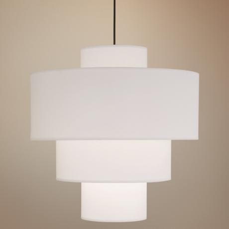 White Linen Deco Deluxe Pendant Light