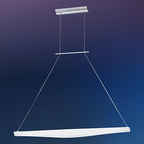 Opal Glass Chrome Finish Large Pendant Light