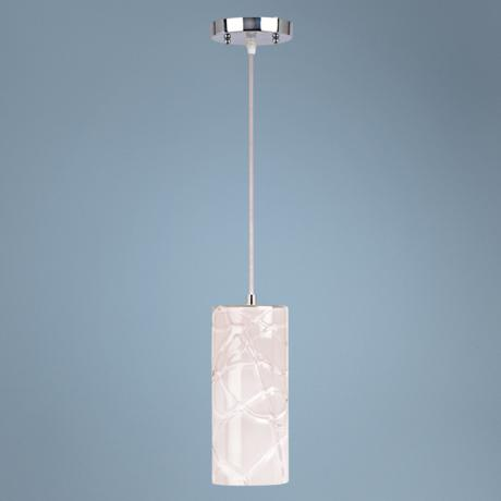 Contemporary Chrome Cylinder Pendant Light