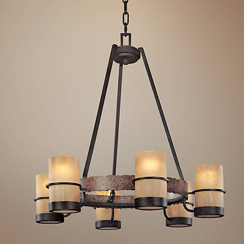 "Jabandi Collection 28"" Wide 6-Light Chandelier"