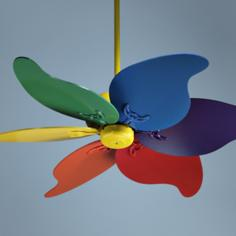 "46"" Quorum Pinwheel Multi-Colored Ceiling Fan"