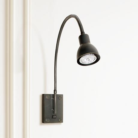 Led Dark Bronze Gooseneck Plug In Swing Arm H5399