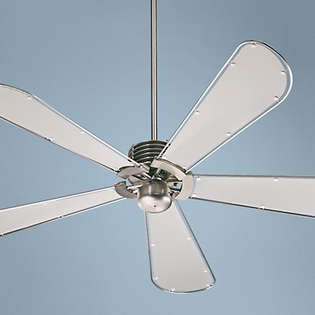 "60"" Quorum Dragonfly Collection Nickel Finish Ceiling Fan"