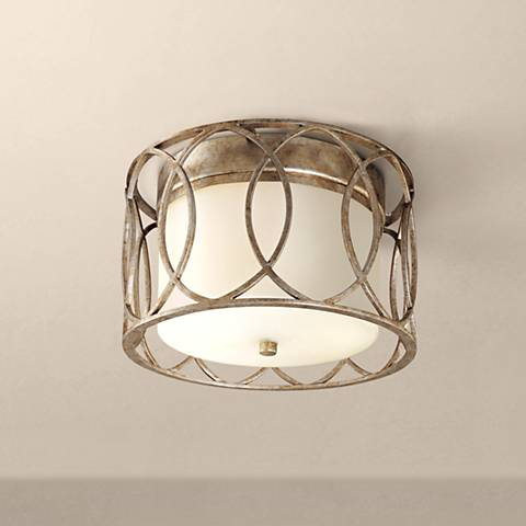 "Sausalito Collection 12 1/4"" Wide Silver-Gold Ceiling Light"