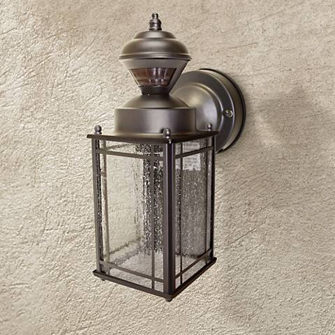 "Hill Crest 11 1/8"" High Motion Sensor Outdoor Light"