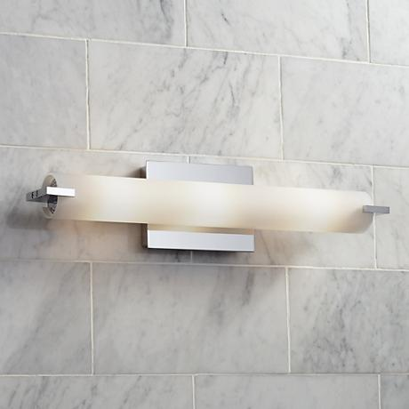 George kovacs chrome 20 1 2 wide ada bathroom light h7666 lamps plus for How to clean pitted chrome bathroom fixtures