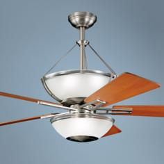 "52"" Kichler Lucia Brushed Nickel Ceiling Fan"