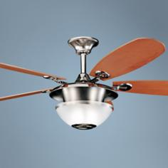 "52"" Kichler Keswick Polished Nickel Ceiling Fan"