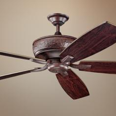 "70"" Kichler Monarch Tannery Bronze Ceiling Fan"