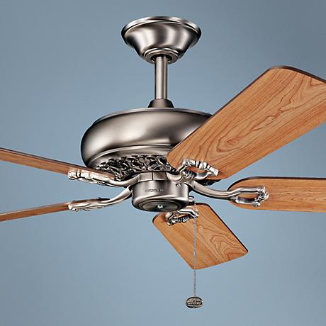 "52"" Kichler Bentzen Antique Pewter Ceiling Fan"